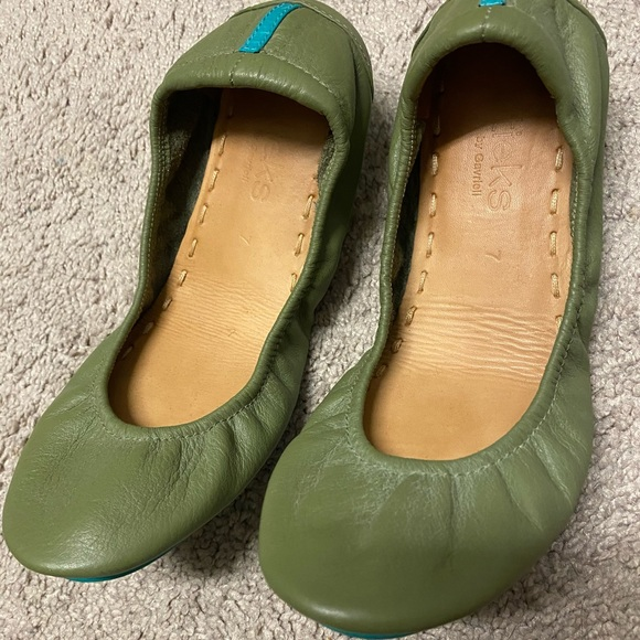 Tieks Shoes | Size 7 Olive | Poshmark